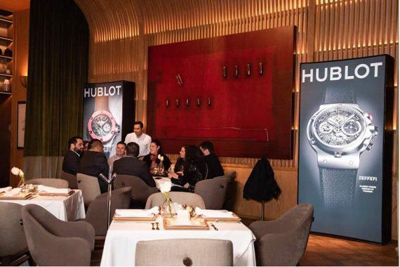 La marca suiza de relojería de lujo, Hublot, se vistió de gala