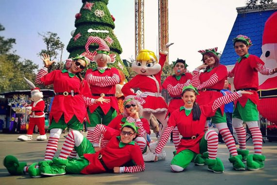 Six Flags México a la octava edición de Christmas in the Park