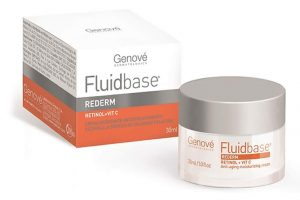 Fluidbase Rederm Retinol + Vitamina C es una crema facial hidratante