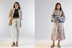 tejido con hilo La marca también ofrece mezclas de lino y algodón metálico.